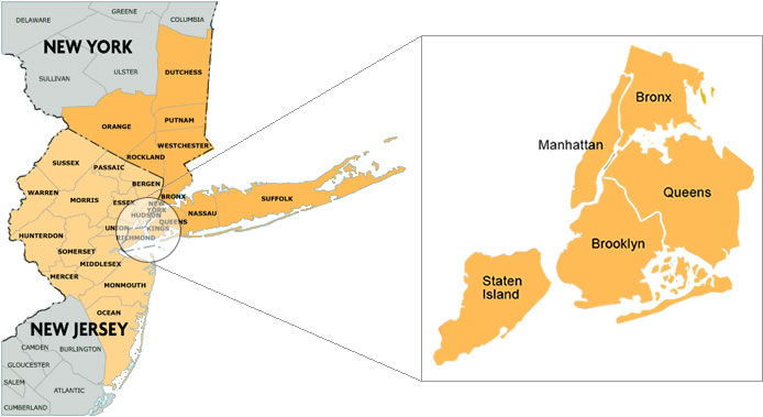 Map Of New York Tri State Area.Jaguar Court Reporting New York Tri State Court Reporting